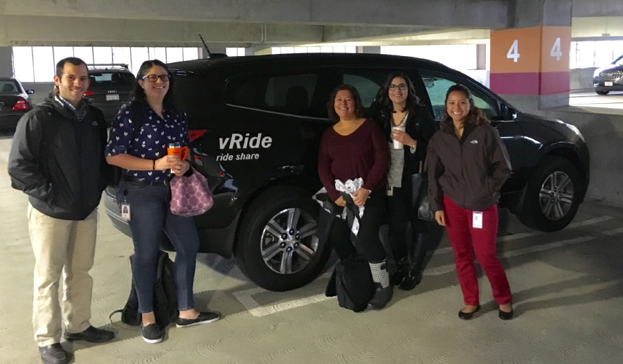 One of the vanpool groups at Illumina